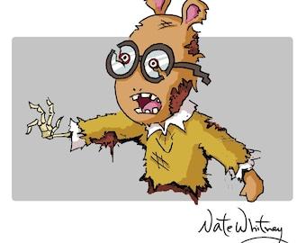 Arthur Undead Illustration
