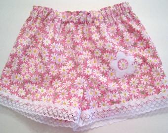 Girls Shorts, Children Summer, kids summer, pink flowers shorts,  floral print kids, children clothing, Toddlers shorts, girls clothing