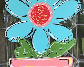 Flower pot door hanger spring door hanger summer door hanger