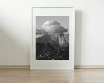 Black and White Print, Wall Art Prints, Design, Wall Decor, Moody Landscape, Fine Art Photography