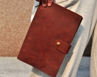 custom refillable leather journal notebook (free stamp)