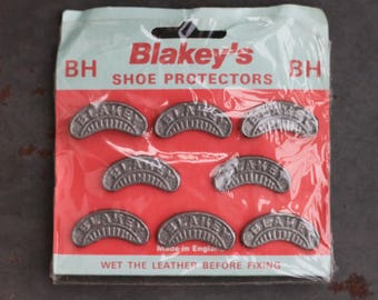 Blakey's Shoe Protectors - NOS Still in Original Packaging Card - 4 Pairs Shoe Taps - Made in England
