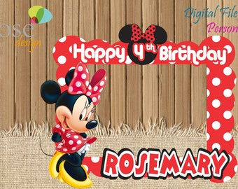 Minnie Mouse Photo Booth / Minnie Party / Birthday Backdrops / Birthday Photo Booths / Micky mouse / Minnie Mouse Birthday / Selfie Frame