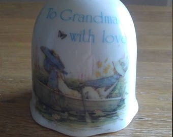 Porcelain  Bell Designers Collection To Grandma with Love  1981 Japan
