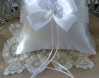"Ring Bearer Pillow Wedding Handmade ""NUANCE""Choose  White OR Ivory"