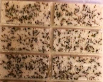 Shea butter soap with lavender buds and lavender EO