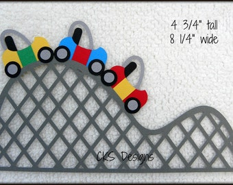 Die Cut ROLLER COASTER Fair Carnival Ride Park Premade Paper Piecing Embellishment for Card Making Scrapbook or Paper Crafts