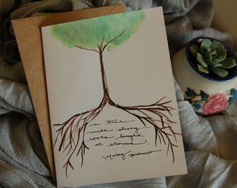 Trees With Strong Roots Card - Inspirational Card, Encouragement Card, Just Because Card