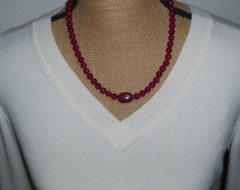 Genuine Earth Mined 401.00 Carats of Rare Faceted Rose Red  Ruby Gemstone, 925 Silver Necklace