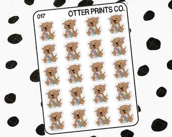 Otis holding Stickers || Otis the Otter Character Stickers