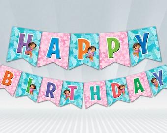 Dora Birthday Banner