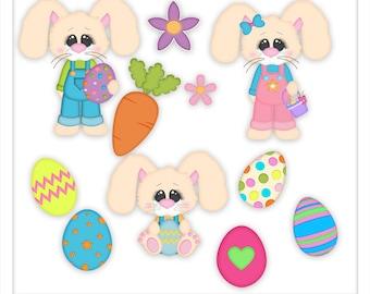 Clipart - Easter Bunny clip art - Kristi W Designs