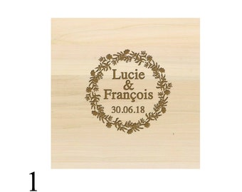 Pretty ring bearer box box carved wood
