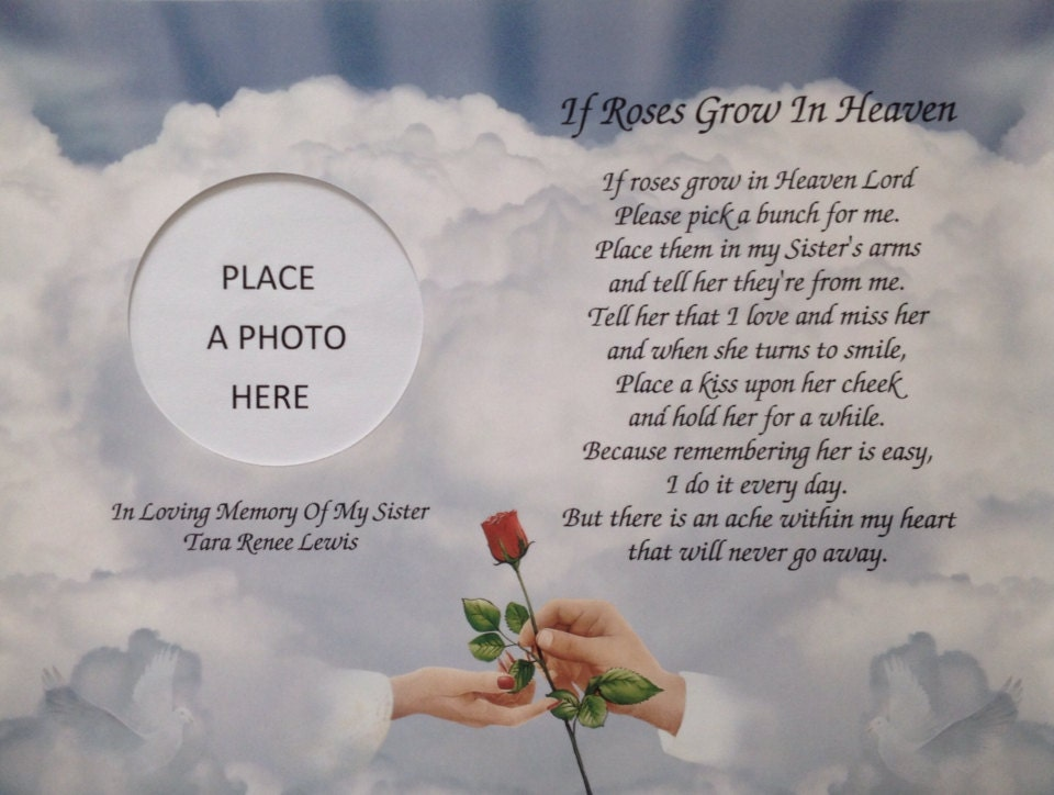 In Memory Of Sister Gifts Sympathy Gifts Condolence Gifts