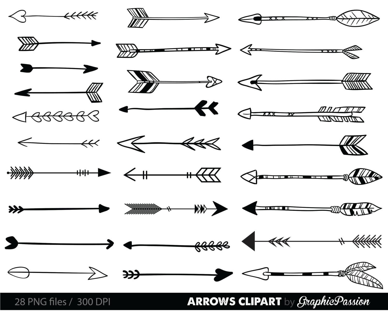 arrows clip art tribal arrow clipart archery hand drawn rh etsy com arrow clipart no background arrow clip art images