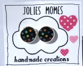 Polkadot studs - Polkadot earrings - Polka dot earrings - Gift for girls