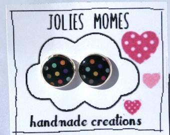 Polkadot studs - Polkadot earrings - Polka dot earrings - Gift for girls