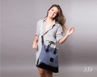 Leather zipper tote crossbody messenger bag SALE office bag leather handbag - leather shoulder bag - gift for her handmade bag
