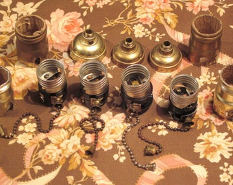 Vintage Lot Of Lamp Parts