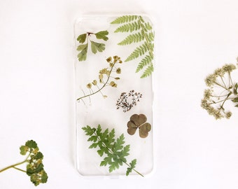 Green Phone Case IPhone 7 Case Leafy IPhone 8 Case Dried Grass Iphone 6 Case Real Leaf Phone Case Gift Dry Flower