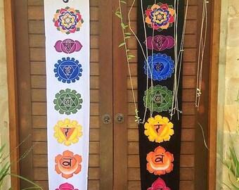 Chakra Batik Wall Hanging / Yoga Art / Yoga Gift / Handmade Art / Meditation Art / Chakra Flag / Handmade Art / Yoga Banner / Meditation /