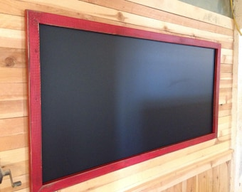 "24"" x 48""Rustic Framed Magnetic Chalkboard, Rustic Wedding Chalkboard, Kitchen Menu, Menu Board, Rustic Frame"