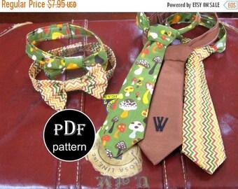 Baby Boy Necktie and Bowtie PDF Sewing Pattern -Boys Sizes 12months through 8