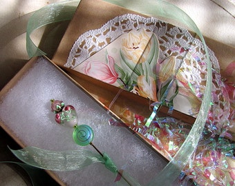 Collage Embellished Gift Box Coordinated to Match Your Gift