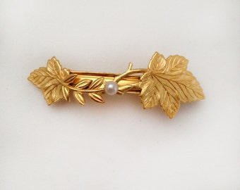 Florencia Leaves Clip, Golden Leaves Hair Clip, Goddess Hair Clip, Princess Hair Accessory, Bridal Hair Accessory, Bridesmaids Accessory