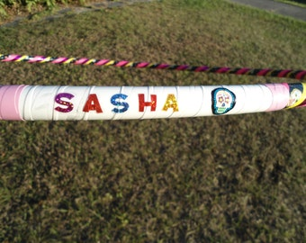 Personalized Kids Hula Hoop // Handmade Children's Fitness Hoop