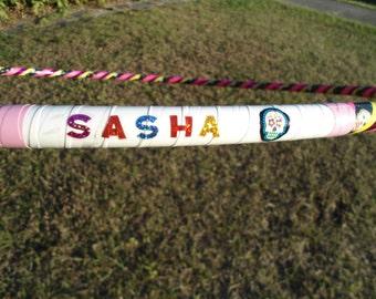 Personalized Kids Hula Hoop // Handmade Children's Fitness Hoop