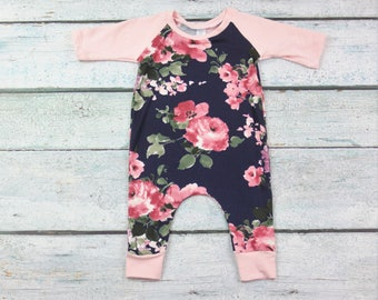 baby girl clothes/baby clothes/ floral print/baby girl outfit/ romper/coming home outfit/girls romper/floral romper