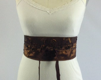 wrap belt, copper reversible