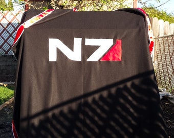 Mass Effect N7 Fleece Blanket