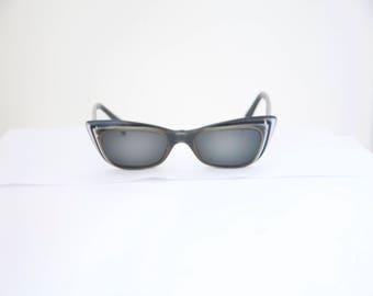 Cateye 1950s Sunglasses  OHH La La  / Made in IFrance/ with Case