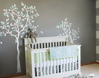 Baby nursery Little Magnolia Blossom Tree vinyl wall decal  sticker mural -NT028