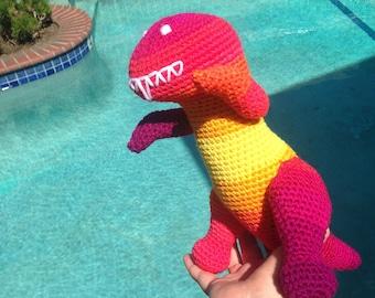 Red T Rex, Yellow T Rex, Toy Dinosaur, Kids Birthday toy, Red Baby Toy, Dinosaur Decor, T Rex Lovey, Red Stuffed Animal, Tyrannosaurus Rex