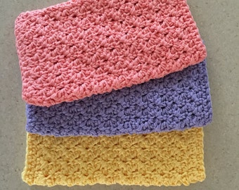 Handmade Crocheted Cotton Dishcloth Washcloth