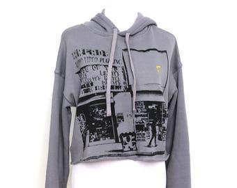 Los Angeles Sweatshirt / Los Angeles Graffiti / LA Streetwear / LA Wear / Graffiti Hoodie / Urban Hoodie / Short Hoodie / Cropped Hoodie