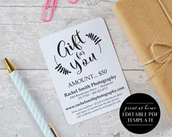Certificate etsy editable gift certificate instant download gift certificate template gift voucher template business yelopaper Images