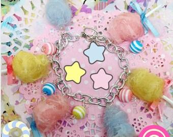 Cotton Candy Charm Bracelet