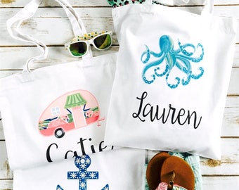 Personalized Summer Totes | 7 Designs!