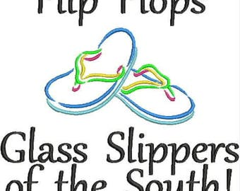 Beer Bottle Cozie or Beer Can Cozie - Flip Flops - Glass Slippers of the South