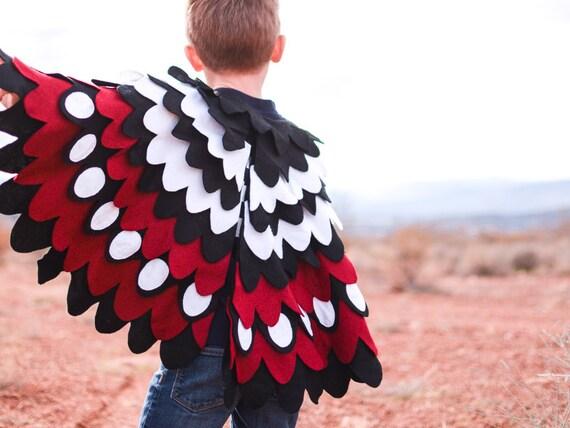 Items similar to Woodpecker Wing Cape Kids Bird Wing ...