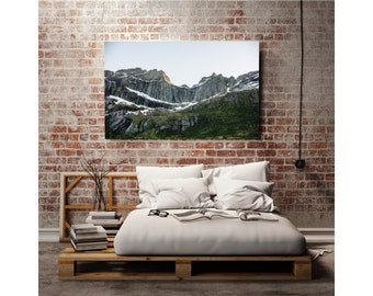 Original Photography Print Norway Mountains for Gallery Wall or Framed Art