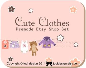 Cute Clothes Premade Etsy shop set