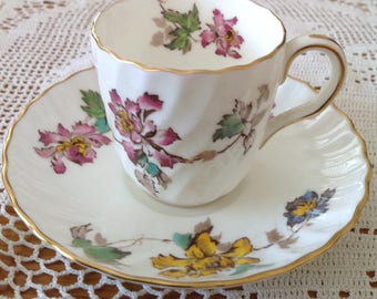 Vermont Demitasse English Coffee Cup and Saucer