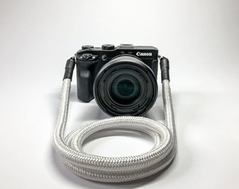 Camera Strap for DSLR white-Camerastrap-rope-camera Band-10 mm-Universal shoulder strap-carrying strap-Sony Olympus-Seilstyles