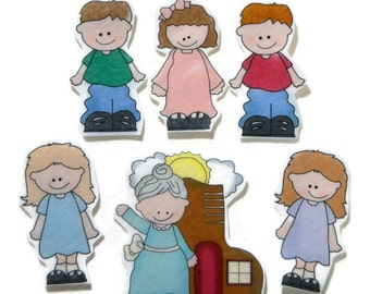 Old Lady Who Lived In A Shoe, Fingerplay, Nursery Rhyme, Busy, Felt Board, Flannel Board, Quiet Book, Felt set, Homeschool, Felt Story