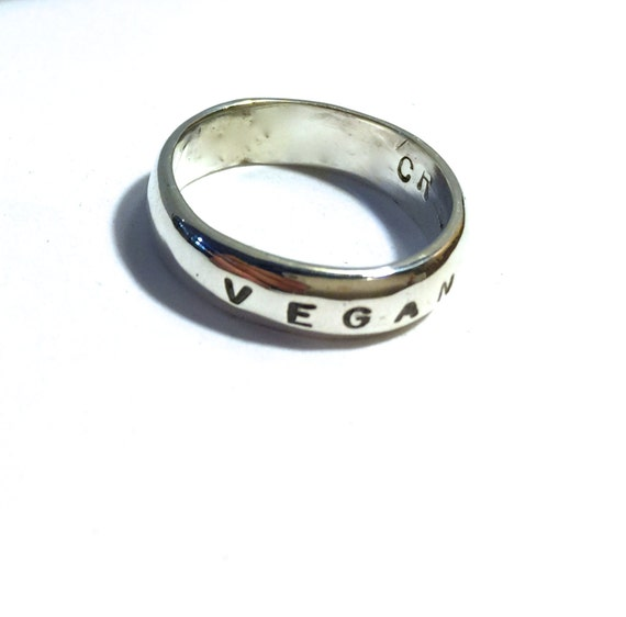 Vegan Band Ring-Vegan Jewelry-Eco Friendly-Vegan Gift-Plant Based-Customizable-Recycled Metals-Unisex-